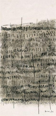 Mira Schendel, 'Archaic Writing,' 1964, Blanton Museum of Art ( asemic writing )