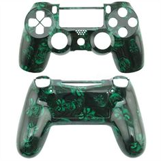 green skull shell for PS4 Controllers PS4 Controller shell