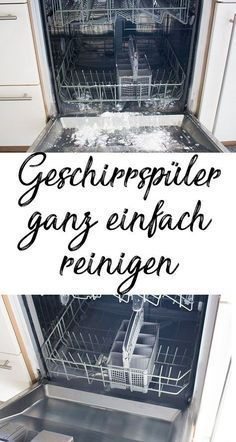 Haushalttipps: 10 geniale Putz-Hacks, die dein Leben erleichtern Easy cleaning of the dishwasher – 10 brilliant cleaning hacks – cleaning tips, household tips, easy cleaning.