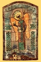 Byzantine Mural in clay - Archangel - By Ana Caravias