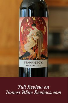 Prophecy Red Blend Wine Review.  Get the full review on Honest Wine Reviews!  #wine #wineoclock