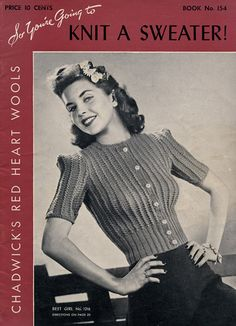 Vintage Knitting Pattern by Nostalgia Rules, via Flickr