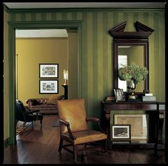 Regent Metallic. Wallpaper that would look good in a library