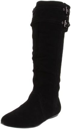 Ugh.    Lemme just tell you why my life sucks, okay?    I am in LOVE with black slouch boots with a buckle. BUT. It's nearly impossible to find one with no heel, with buckles around only top like this, black, in my size, and in stock.    I hate everything.