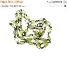 Sale Peridot Necklace Sterling Silver by TheJewelryLadysStore