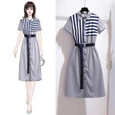 Fashion Drawing Dresses, Fashion Sketches, Fashion Dresses, Korean Girl Fashion, Cute Fashion, Fashion Themes, Fashion Design, Casual Dresses, Casual Outfits