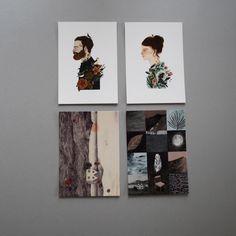 Four wintery postcards by Lizzie Stewart