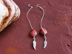 Stunning Red First Quality Agate Earrings With door EASTERNSOULS