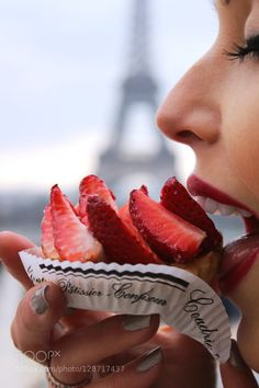 Fresh Parisian Pastry by t-holliday-smith  IFTTT 500px cake delicious dessert eiffeltower food french fresh fruit gourmet lips paris pastry s