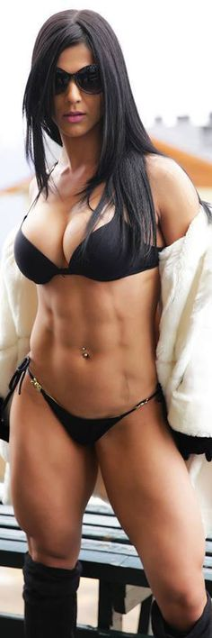 an elegant woman of power ... Brazilian muscle babe & #Fitness model Eva Andressa : if you LOVE Health, Workouts and DIY Body Goals - you'll love the #Inspirational & motivational designs at CageCult MMA Fashion: http://cagecult.com/mma