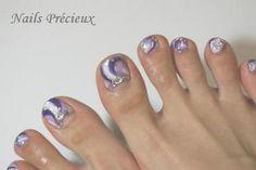 紫ペディプッチ / あず☆nails-precioux のネイル
