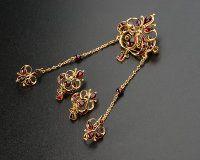 Set Broze pairs of earrings