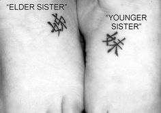 Chinese Sisterly Bond Is there a symbol for middle sister? If she would ever do it !!!