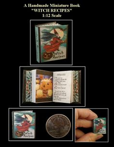 THE 12 DAYS OF CHRISTMAS Illustrated Miniature Book Dollhouse 1:12 Scale Book