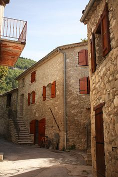 Old houses in Annot village - Annot, Alpes-de-Haute-Provence - France