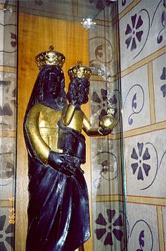 Black Madonna. Budapest  In museum of the Church of St. Matthew, Black Madonna of Loretto, 17 C.