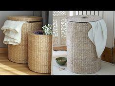 Diy Arts And Crafts, Creative Crafts, Home Crafts, Diy Crafts, Sisal, Rope Basket, Basket Weaving, Diy Bedroom Decor, Diy Home Decor