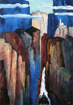 """greenturtleisland: """" Marianne von Werefkin, The Way Everlasting, circa 1929, tempera on cardboard. """""""