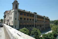 Hospital in the Tiber River