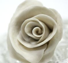 DIY hybrid art clay - a cross between cold porcelain and paper clays.  Shrinks less than cold porcelain, but like cold porcelain, dries to a porcelain finish and can be dyed with acrylic paint.