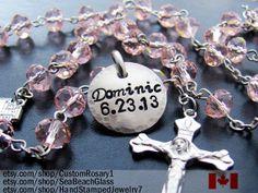 Godparents Gift. Child Baptismal Rosary. Custom by BaptismGifts, $47.71