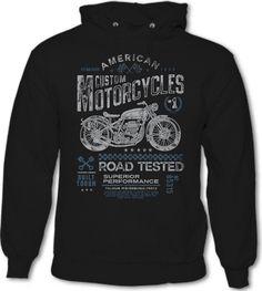 American Custom Motorcycles - Mens Hoodie Biker Indian Victory Motorbike Bike