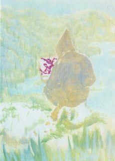 figure in mountain landscape, peter doig, 1998