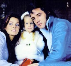 December 1970 Elvis, one of the absolutely best looking, most talented men we will ever have in our world. I love Suspicious Minds! This is a beautiful family picture of them.