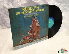 1965 Rudolph the Red Nosed Reindeer LP #RCA #Vintage #Vinyl #holidaymusic #Christmas songs #children #singalongs