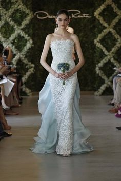 Oscar de la Renta Bridal 2013 powder blue