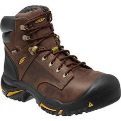 New Keen Mens Brown Leather Mt Vernon 8 Steel Toe Work Safety Boots Size 10 5 Men Hiking, Hiking Boots, Hiking Gear, Mens Waterproof Boots, Mens Work Shoes, Fashionable Snow Boots, Desert Boots, Leather Boots, Brown Leather