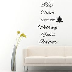 Wall Decals Buddha Quote Keep Calm Because by DecalMyHappyShop