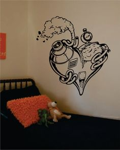Steampunk Heart The latest in home decorating. Beautiful wall vinyl decals, that are simple to apply, are a great accent piece for any room, come in an array of colors, and are a cheap alternative to