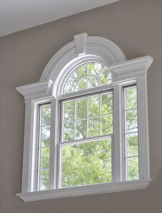 Accentuate your home & increase the functionality of your windows with these 4 window trim styles. Arched Windows, Windows And Doors, Big Windows, French Windows, French Doors, House Outside Design, House Design, Exterior Window Molding, Window Molding Trim