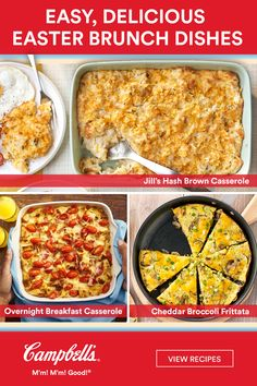 Plan an easy-to-execute Easter brunch this year with these delicious recipes. Brunch Dishes, Brunch Recipes, Food Dishes, Breakfast Recipes, Chicken Curry, Easter Recipes, Holiday Recipes, Campbells Soup Recipes, Overnight Breakfast Casserole