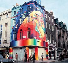 Swinging London: The Beatles' Apple boutique all'angolo tra Paddington Street e Baker Street nel Baker Street, Beatles Art, The Beatles, Apple Shop, Street Art, Art Nouveau, Carnaby Street, London Street, Swinging London