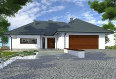 Zdjęcie projektu Alabama BBE1001 Alabama, Bungalow, House Plans, Garage Doors, Shed, Outdoor Structures, Outdoor Decor, Home Decor, Real Estates
