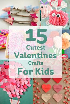 15 Cute Valentines Crafts for Kids   http://diyhomesweethome.com/15-cutest-valentines-crafts-for-kids-hobbycraft-blog/  Great post with 15 Valentines crafting projects for kids.