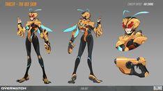 Credit to original artist Character Sheet, Game Character, Character Concept, Concept Art, Character Ideas, Superhero Characters, Fantasy Characters, Female Characters, Overwatch Genji