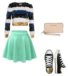 shool day by beata-apanasewicz on Polyvore featuring Sonia Rykiel, LE3NO, Converse and Michael Kors