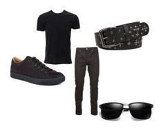 """Men's Outfits"" by lexidonovan123 on Polyvore featuring Simplex Apparel, Yves Saint Laurent, Lanvin, BKE, men's fashion and menswear"