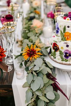 Our Wedding Day, Farm Wedding, Surprise Wedding, Centerpieces, Table Decorations, Edible Flowers, Lush Green, Green Velvet, Jewel Tones