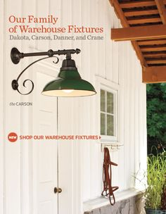 Might have just found the perfect fixture for above the barn doors!