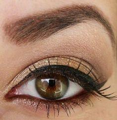 maquillage nuances dorees yeux noisettes