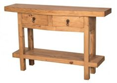 Mansion Country Pine Console Table