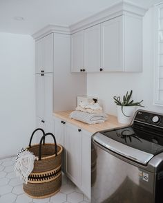 5 Reasons Why We Went With A Top Loading Washer – The Wild Decoelis - Modern White Laundry Rooms, Mudroom Laundry Room, Laundry Room Layouts, Laundry Room Remodel, Laundry Room Cabinets, Laundry Decor, Laundry Room Organization, Laundry Room Design, Laundry Room Utility Sink