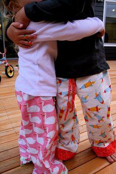 pajamas, tutorials, patterns, easter, sewing projects, pj pant, christmas, rockets, pajama pants