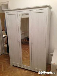 IKEA 3 ajtós, tükrös gardrób szekrény
