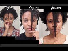 1 Year Natural 4c Hair Growth - INSPIRING [Video] - http://community.blackhairinformation.com/video-gallery/natural-hair-videos/1-year-natural-4c-hair-growth-inspiring-video/
