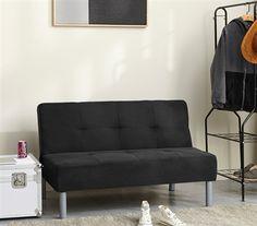 College Mini-Futon - Black College Furniture, Black Couches, Dorm Hacks, Spring Steel, Sofa, Mini, Playroom, Bed, Futons
